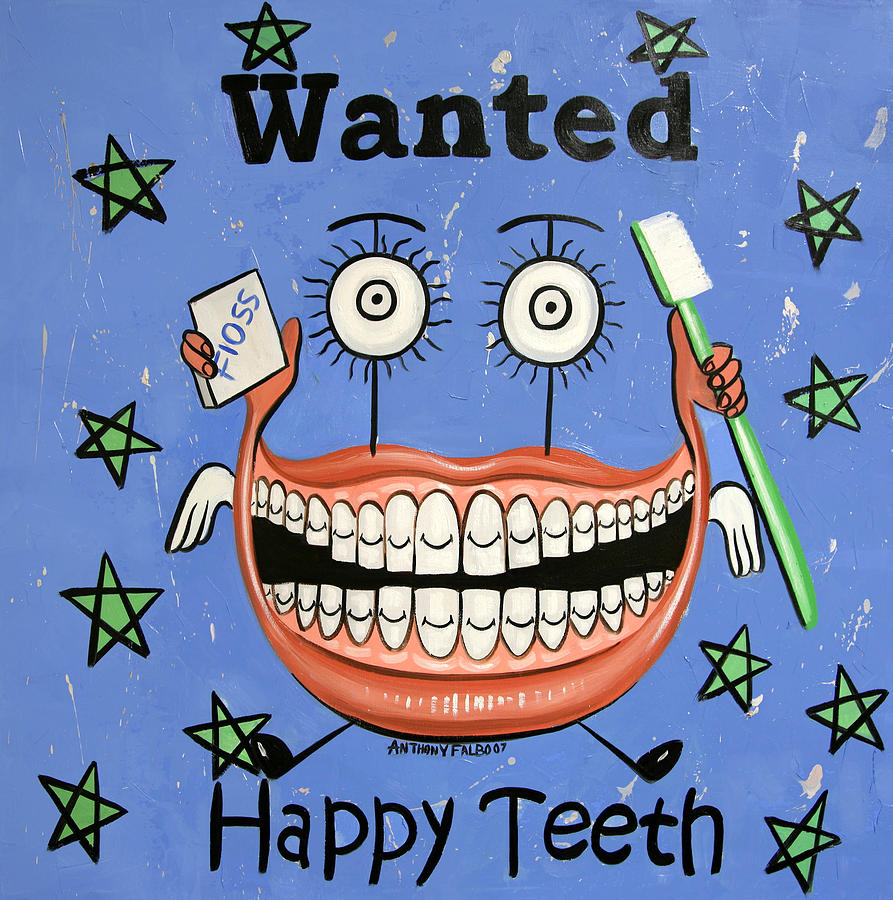 Happy Teeth Painting  - Happy Teeth Fine Art Print