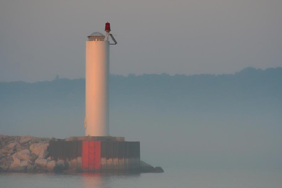 Harbor Photograph - Harbor Beacon by Odd Jeppesen