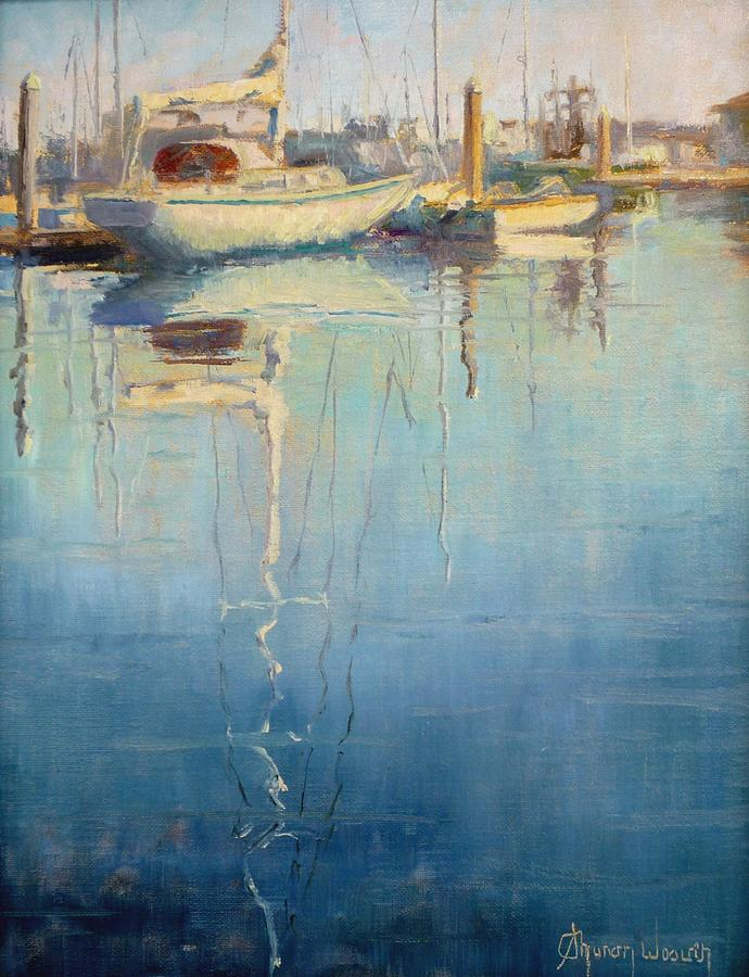Harbor Reflection Painting  - Harbor Reflection Fine Art Print
