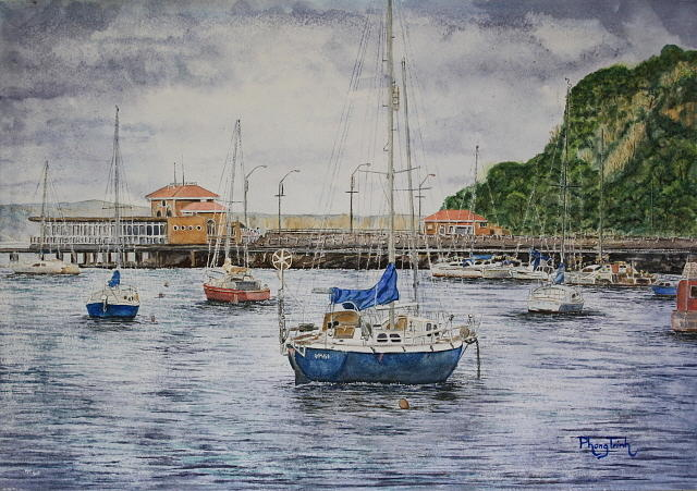 Harbor Restaurants Painting