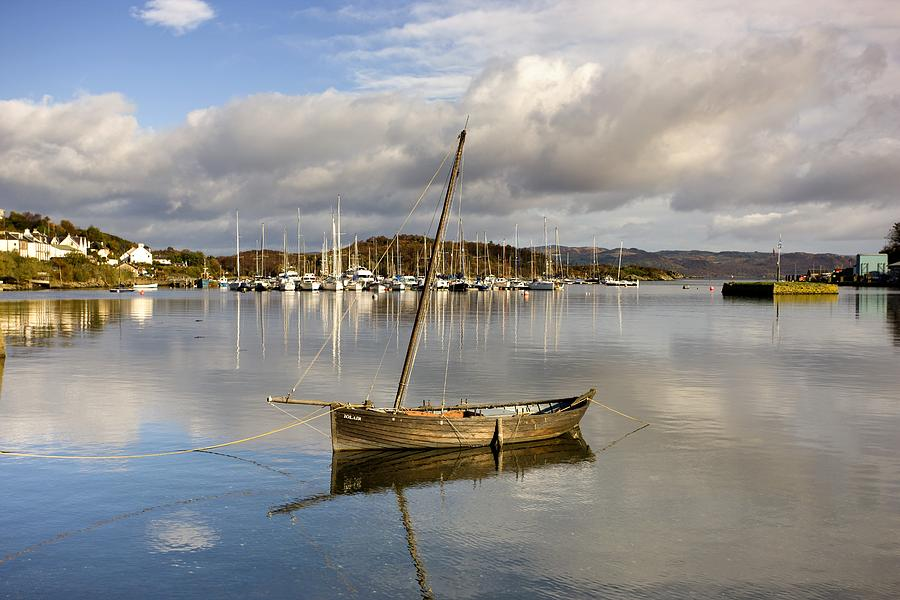 Short Photograph - Harbour In Tarbert Scotland, Uk by John Short