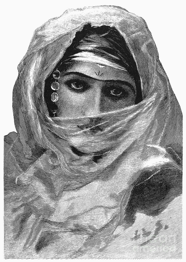 Harem Woman, 19th Century Photograph