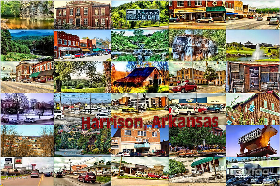 Harrison Arkansas Collage Digital Art