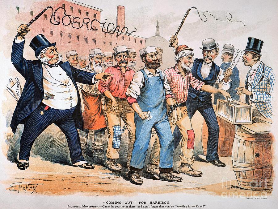 Harrison Cartoon, 1888 Photograph