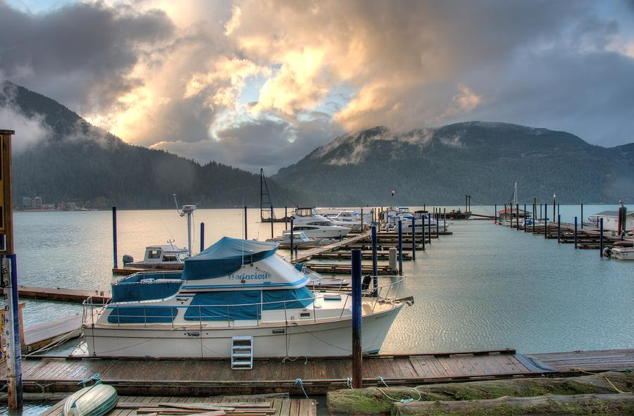 Harrison Lake At Dusk Photograph  - Harrison Lake At Dusk Fine Art Print