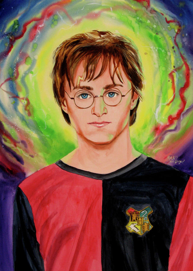Movies Painting - Harry Potter by Ken Meyer jr