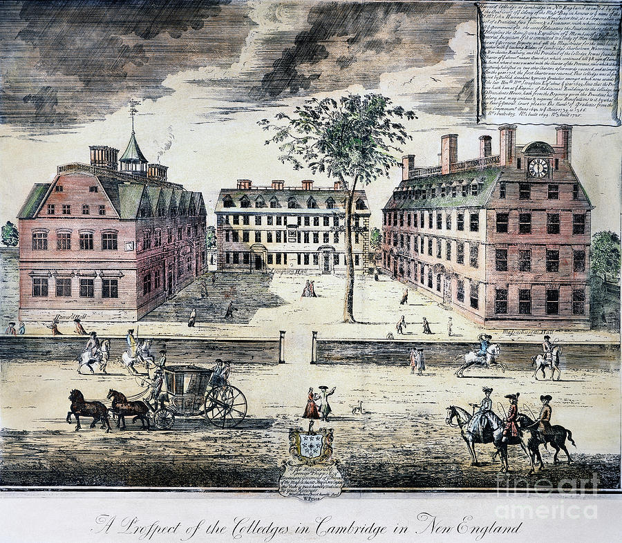 Harvard College, C1725 Photograph