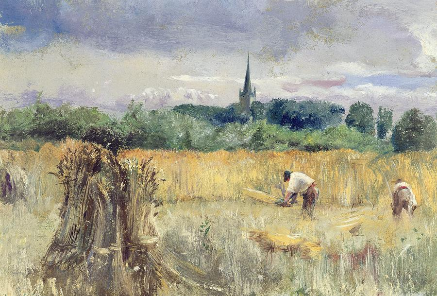 Harvest Field At Stratford Upon Avon Painting