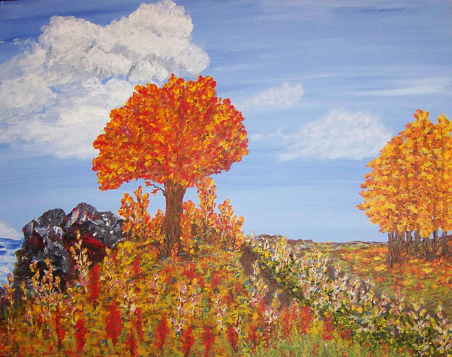 Sky Painting - Harvest Hill by Peri Craig