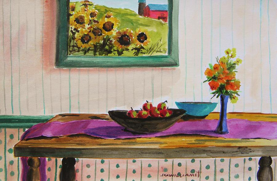 Harvest Table Painting  - Harvest Table Fine Art Print