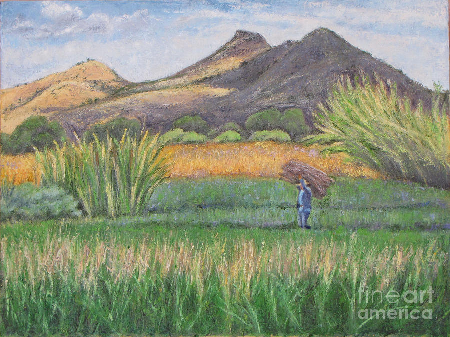 Harvesting In Yagul Painting  - Harvesting In Yagul Fine Art Print