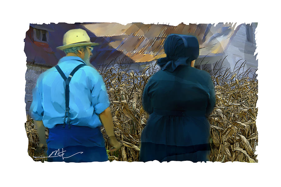 Harvesting The Corn Painting