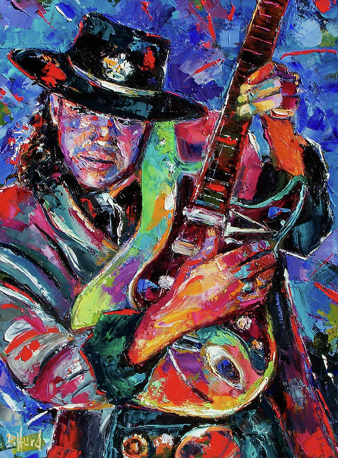 Hat And Guitar Painting