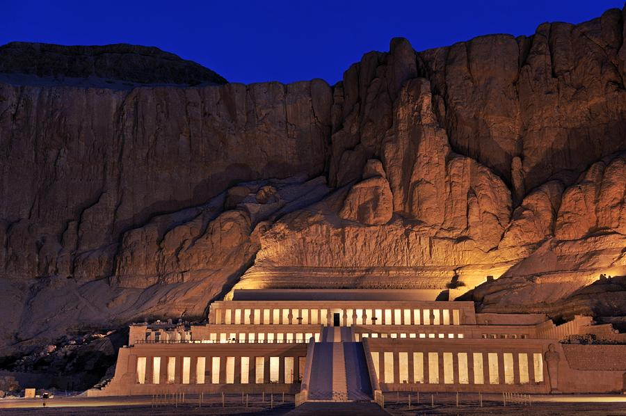 Hatshepsuts Mortuary Temple Rises is a photograph by Kenneth Garrett ...