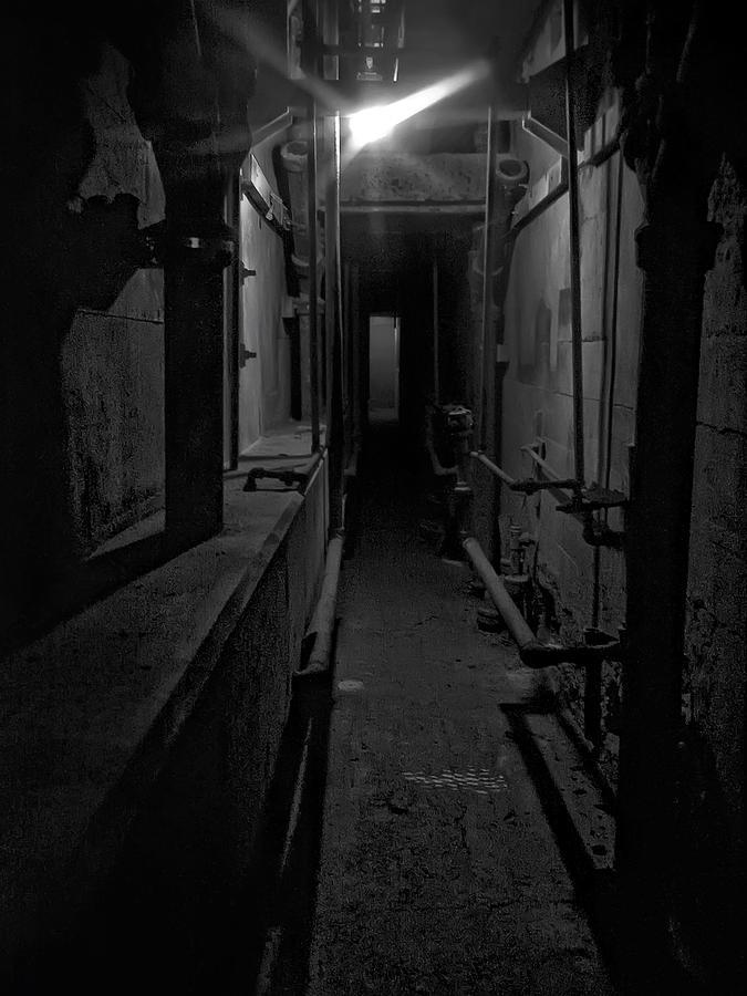 Haunted 1946 Battle Of Alcatraz Death Chamber Photograph