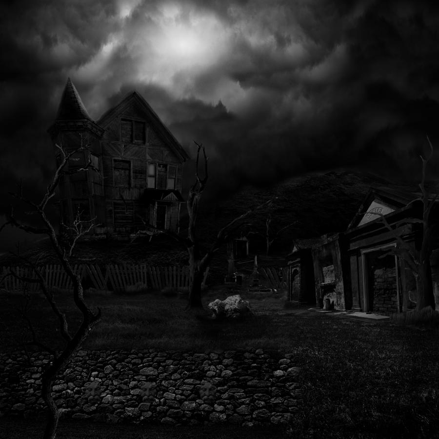 Haunted House II Digital Art  - Haunted House II Fine Art Print