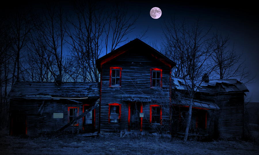 Haunted Red Photograph  - Haunted Red Fine Art Print