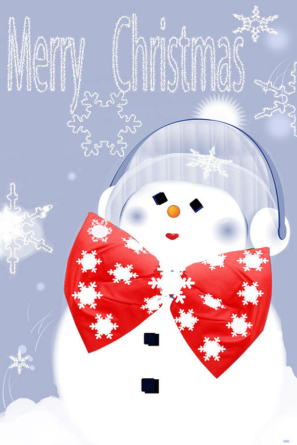 Have A Frosty Holiday Digital Art  - Have A Frosty Holiday Fine Art Print