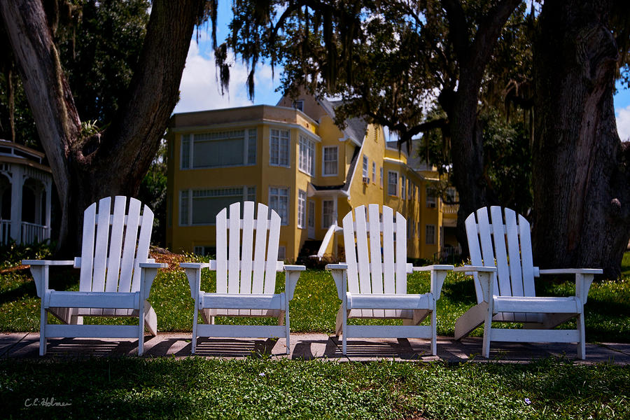 Chairs Photograph - Have A Seat by Christopher Holmes