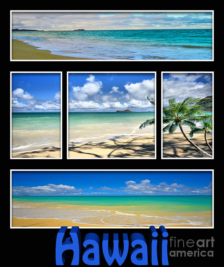 Hawaii Pentaptych Photograph  - Hawaii Pentaptych Fine Art Print