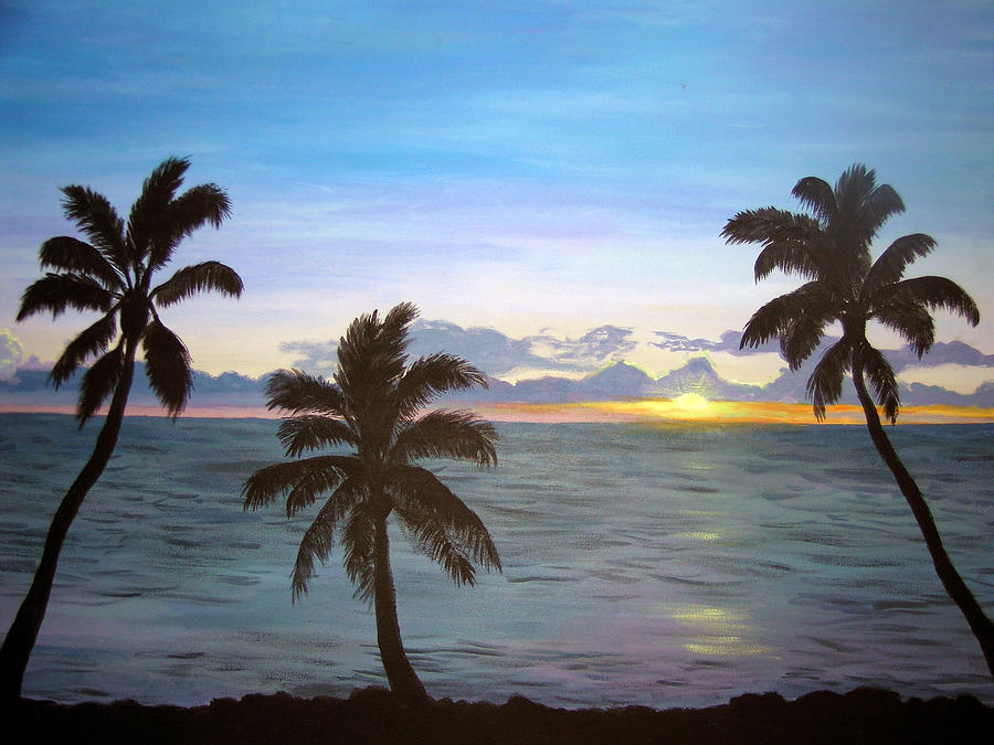 Hawaiian Dream Painting  - Hawaiian Dream Fine Art Print