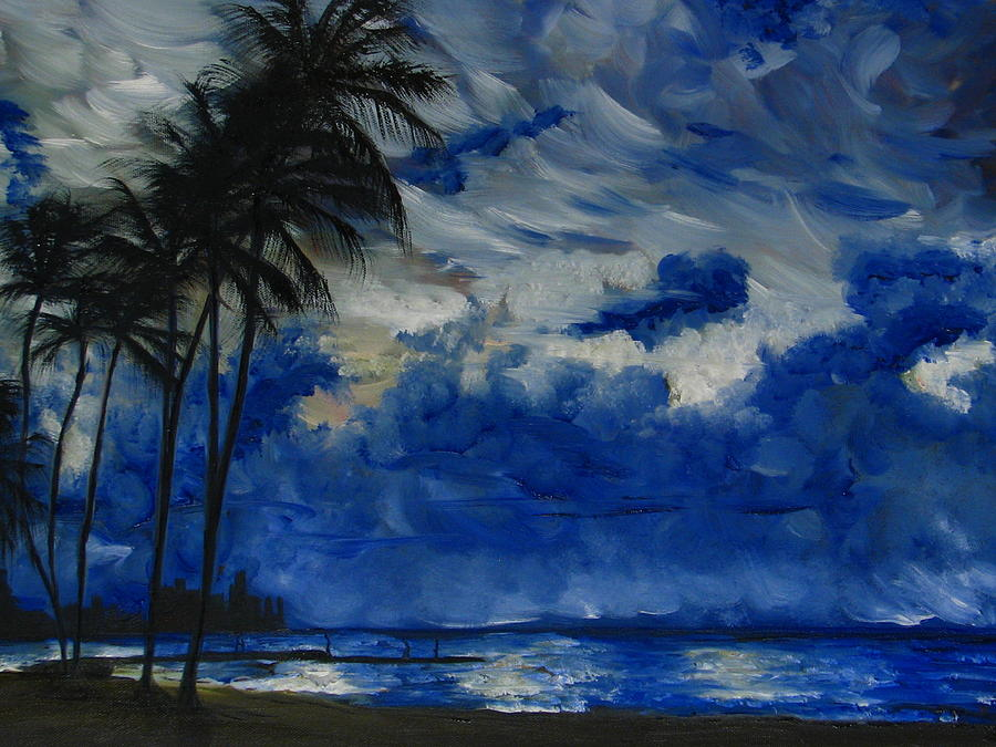 Hawaiian Sunrise Painting  - Hawaiian Sunrise Fine Art Print