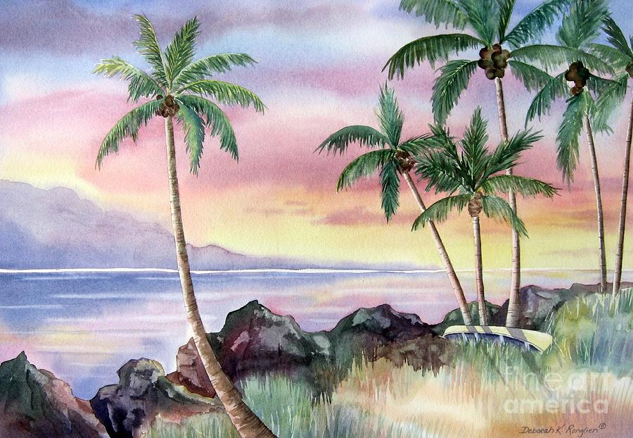 Hawaiian Sunset Painting