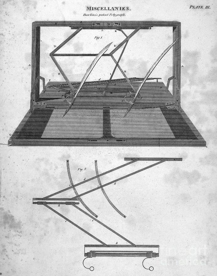Hawkins Polygraph, 1803 Photograph
