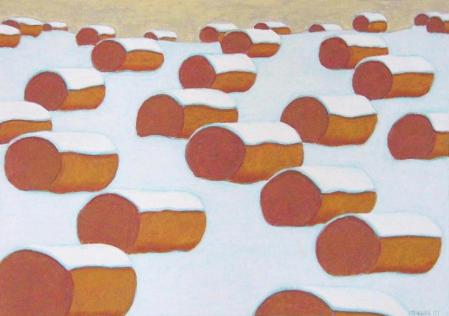 Hay Balesin Winter Pastel