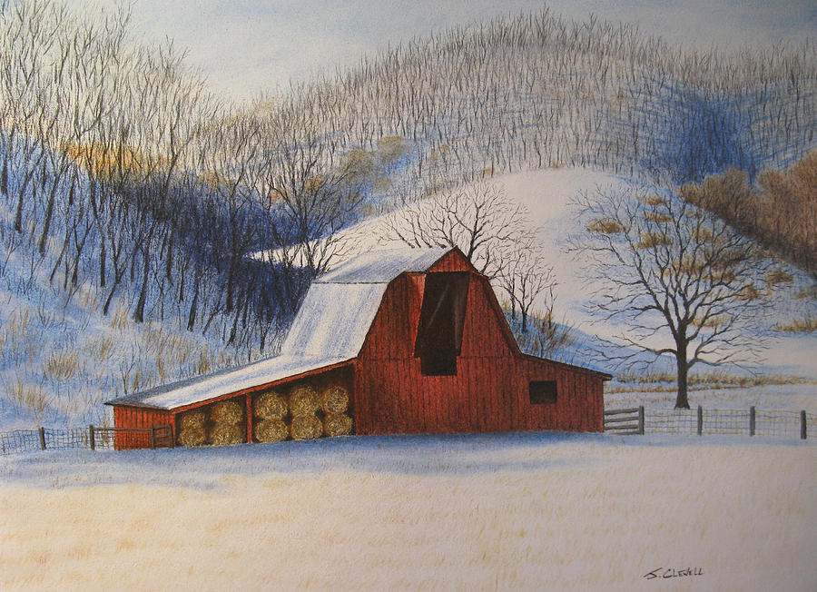 Landscape Pastel - Hays In by James Clewell