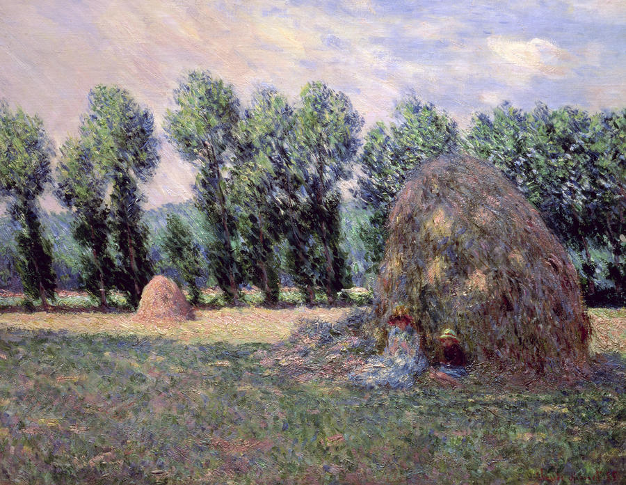 Haystacks Painting  - Haystacks Fine Art Print