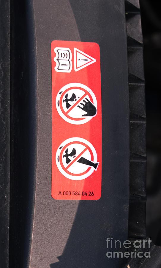 Hazard Warning Sticker Photograph