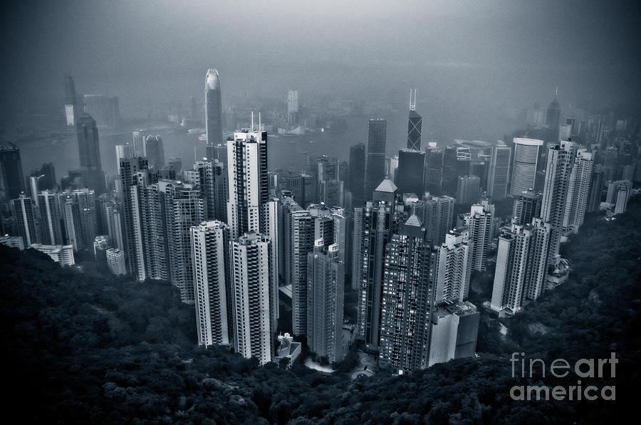 Hazy Hong Kong Photograph