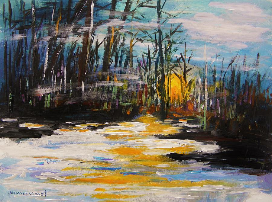 Hazy Nightfall Painting