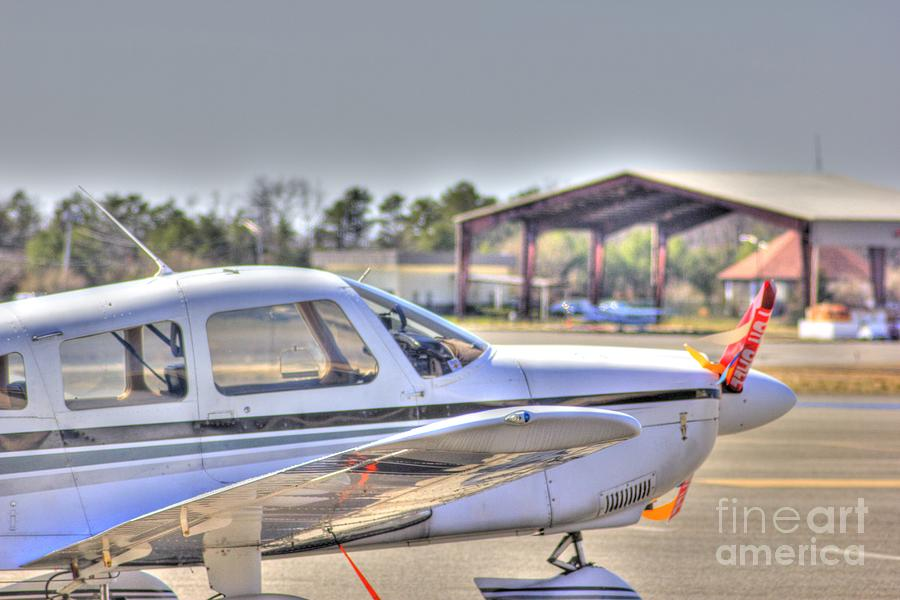 Plane Photograph - Hdr Airplane Looks Plane From Afar Under Canopy by Pictures HDR