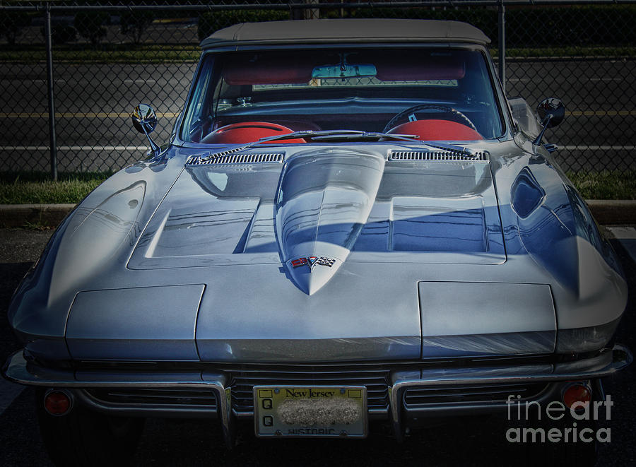 Hdr Corvette Classic Convertible Old School Cool Photo Picture Auto