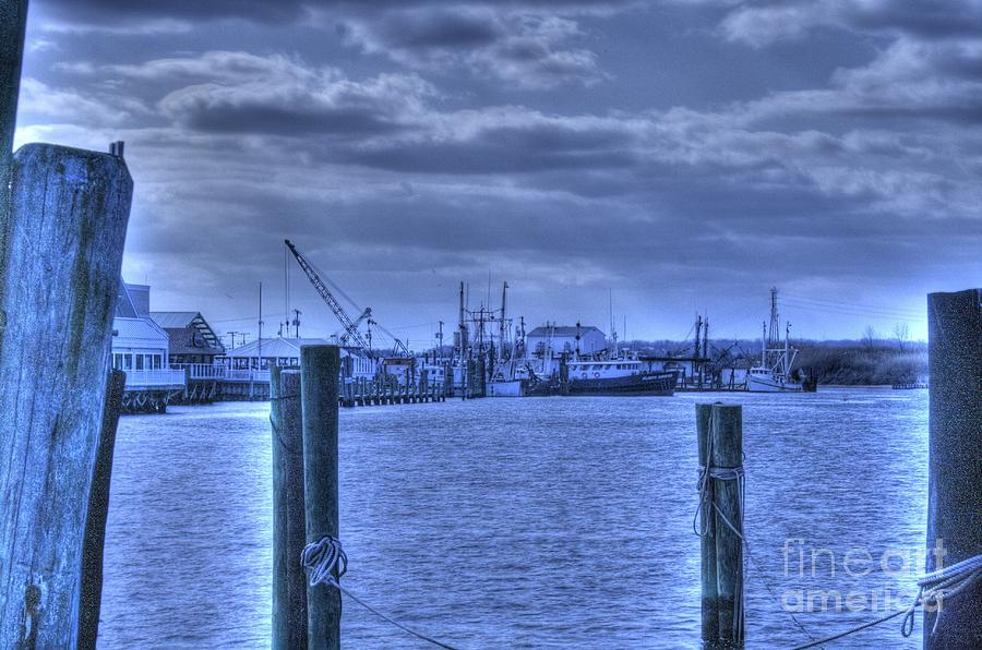 Hdr Fishing Boat Across The Jetty Pyrography  - Hdr Fishing Boat Across The Jetty Fine Art Print