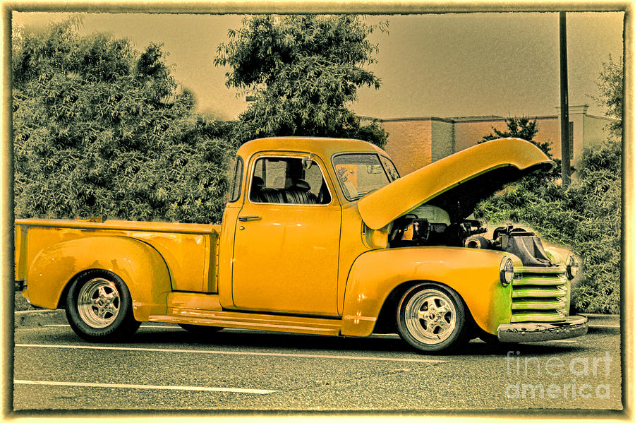 hdr pick up truck old school photo pictures new buy sell selling photography art car cars. Black Bedroom Furniture Sets. Home Design Ideas