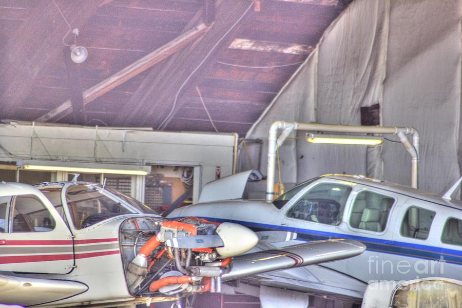 Hdr Planes Being Fixed Photograph  - Hdr Planes Being Fixed Fine Art Print