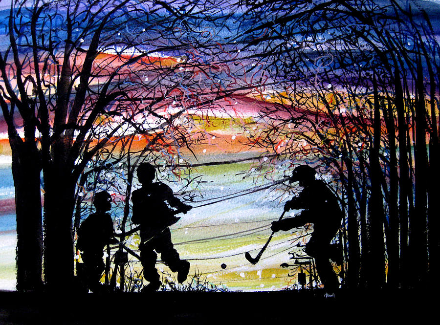He Shoots And Scores Painting