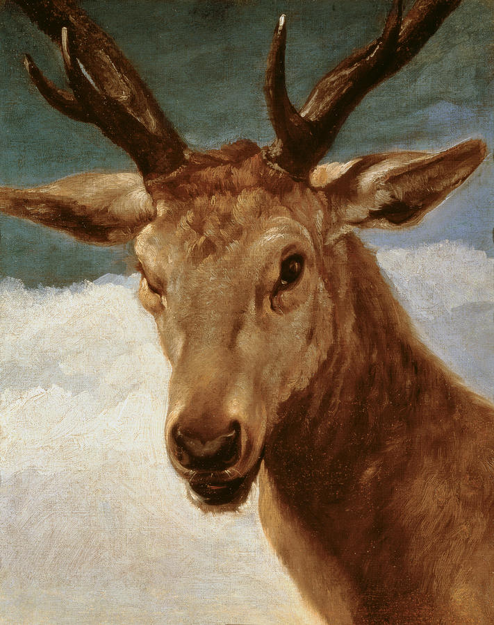 Head Of A Stag Painting