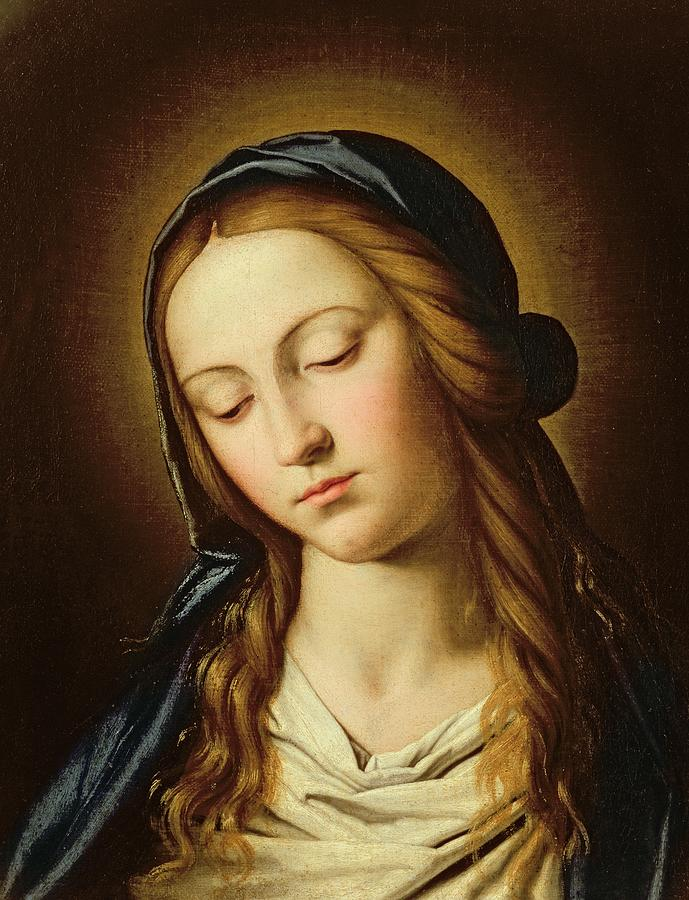 Head Of The Madonna Painting  - Head Of The Madonna Fine Art Print