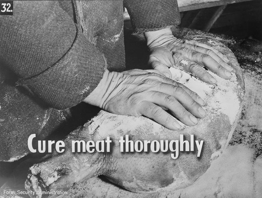 1940s Photograph - Health And Food Safety, Meat by Everett