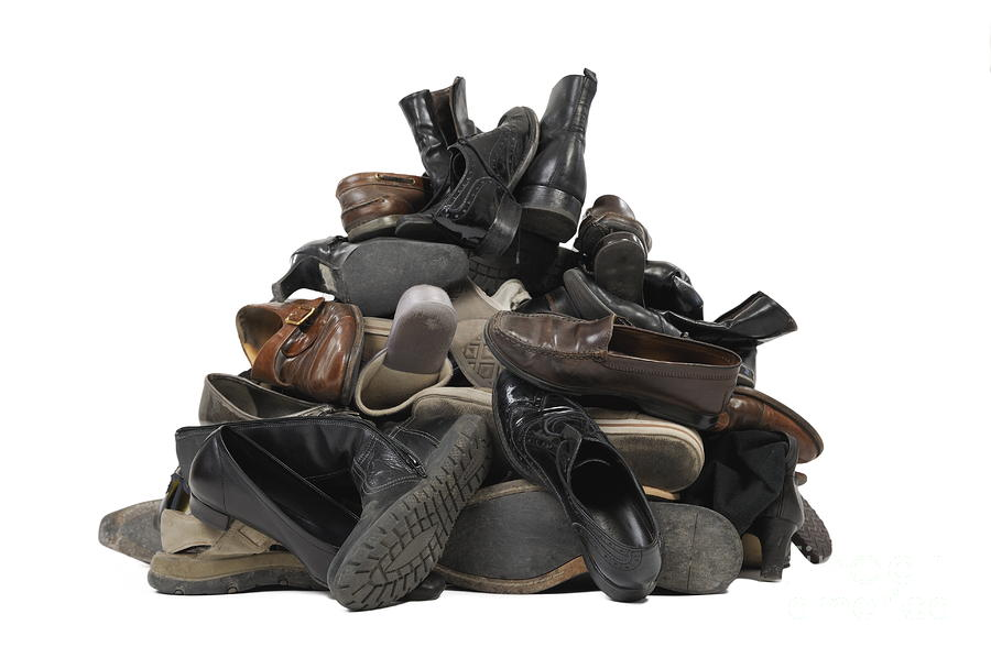 Heap Of Used Shoes by Sami Sarkis