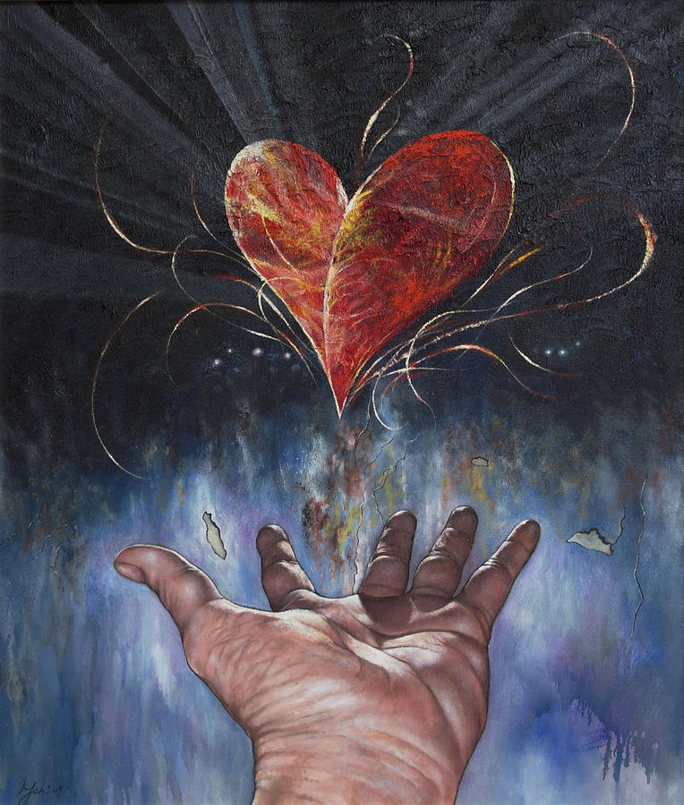 Hand Painting - Heart And Soul by Jan Camerone