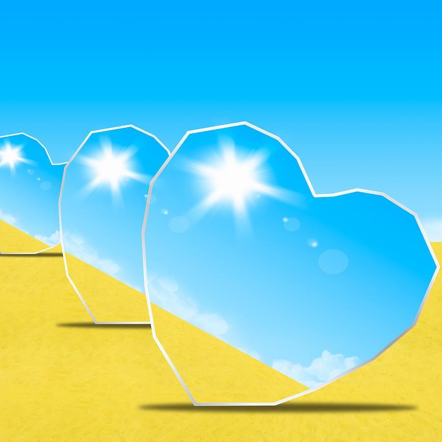 heart mirrors photograph by setsiri silapasuwanchai