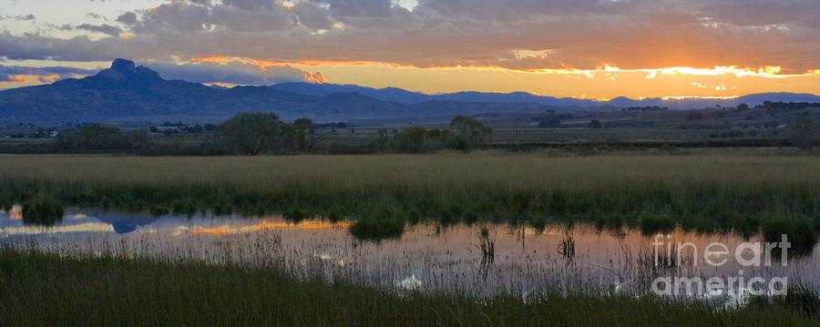Heart Mountain Sunset Photograph