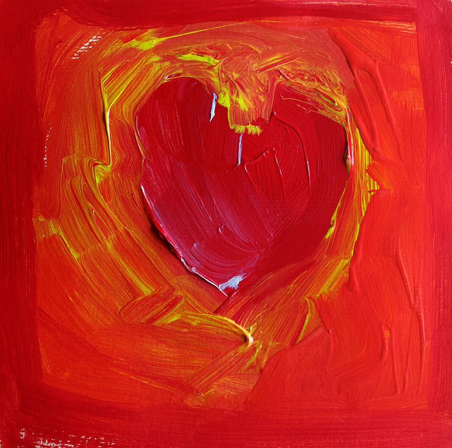 Heart Of Cupids Joy At The Moment Of Transformation Dripping Oozing Love When Pierced With Open Fear Painting  - Heart Of Cupids Joy At The Moment Of Transformation Dripping Oozing Love When Pierced With Open Fear Fine Art Print