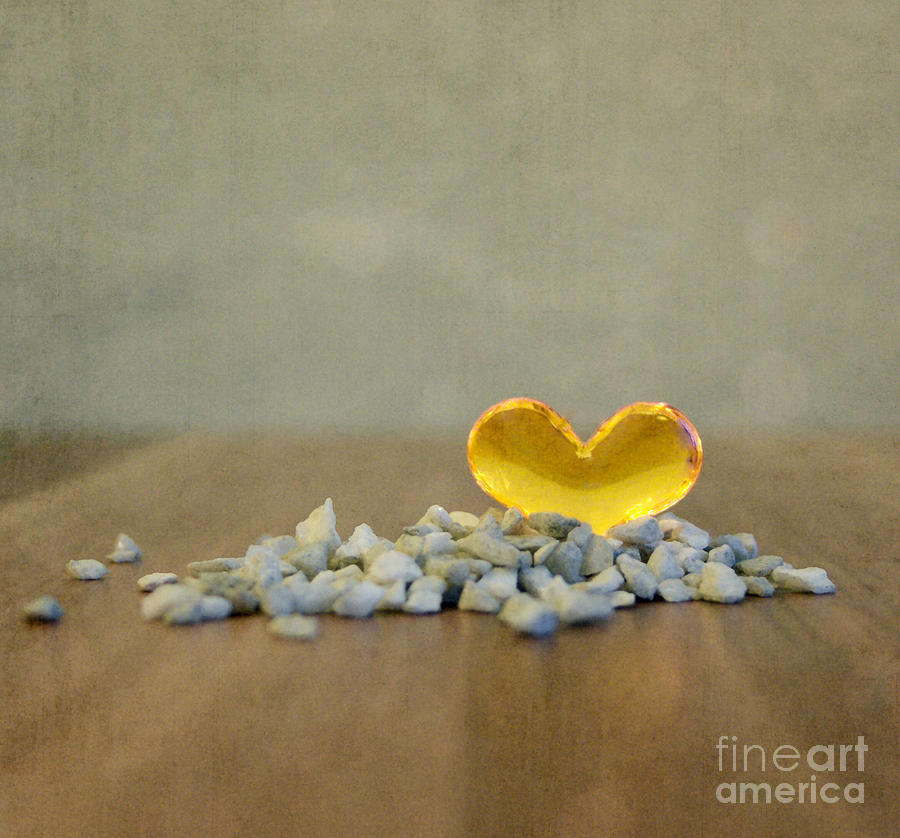 Heart Of Glass Photograph  - Heart Of Glass Fine Art Print