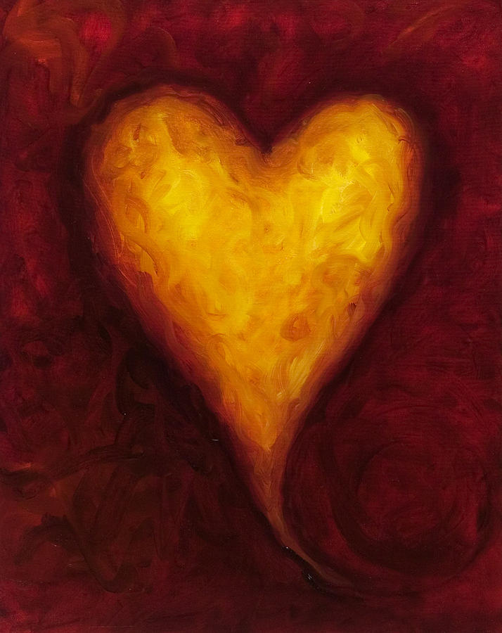 Heart Of Gold 1 Painting  - Heart Of Gold 1 Fine Art Print